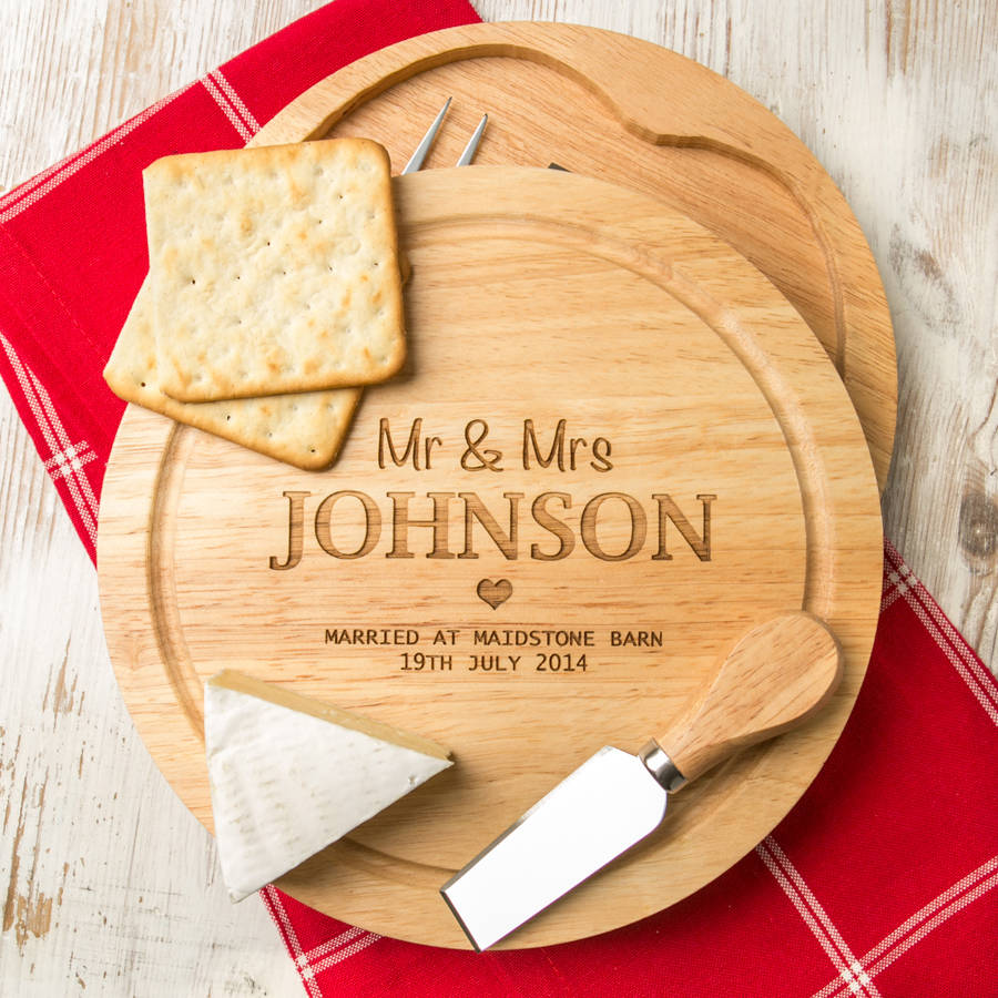 Personalised Name And Place Cheese Board Yumbles