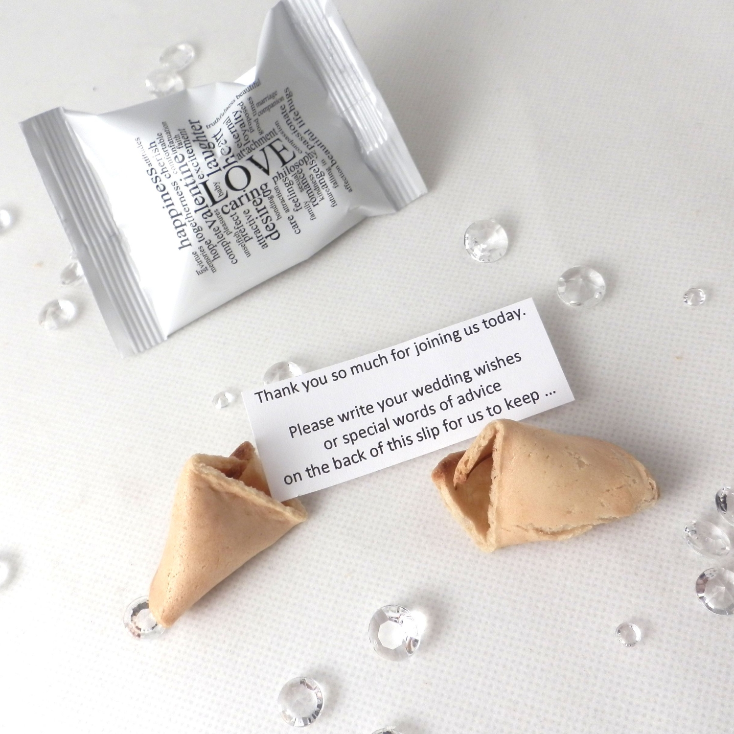 Wedding Wishes Wedding Fortune Cookies - Yumbles.com