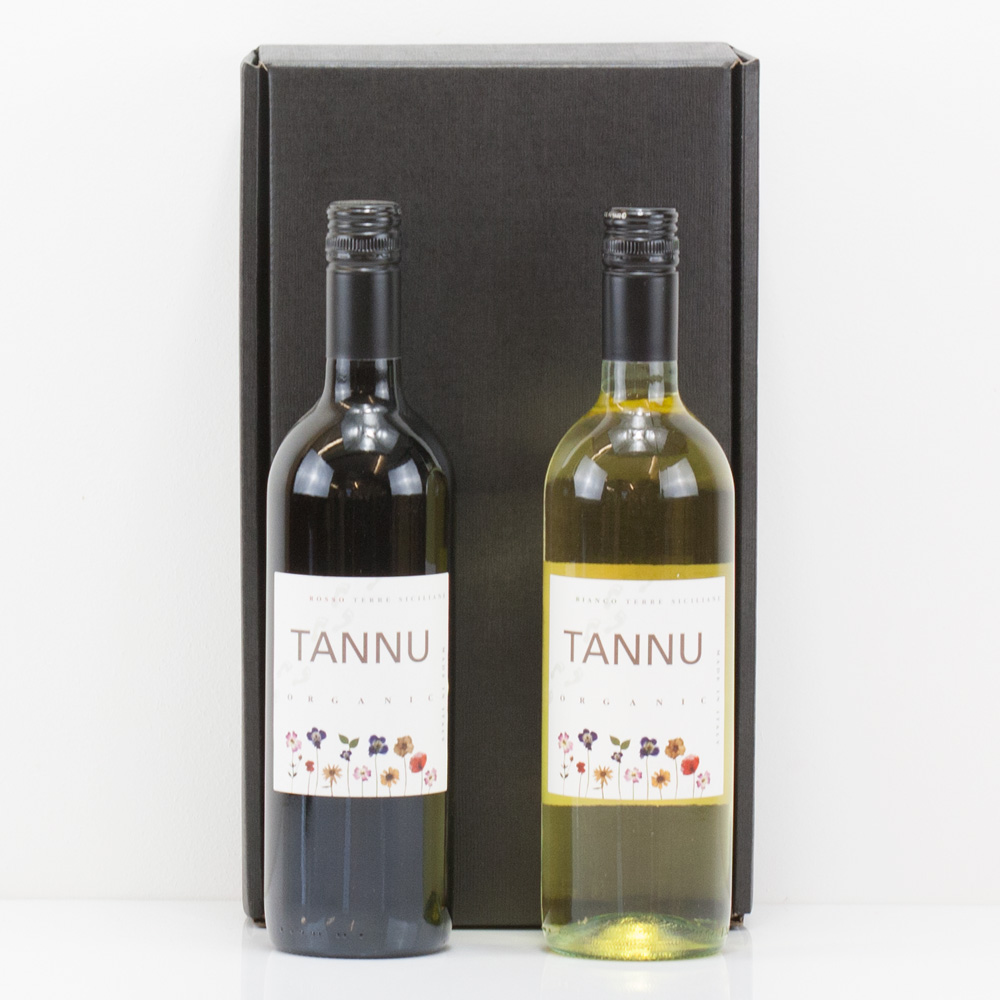 Luxury Red White Organic Wine Gift Box Set