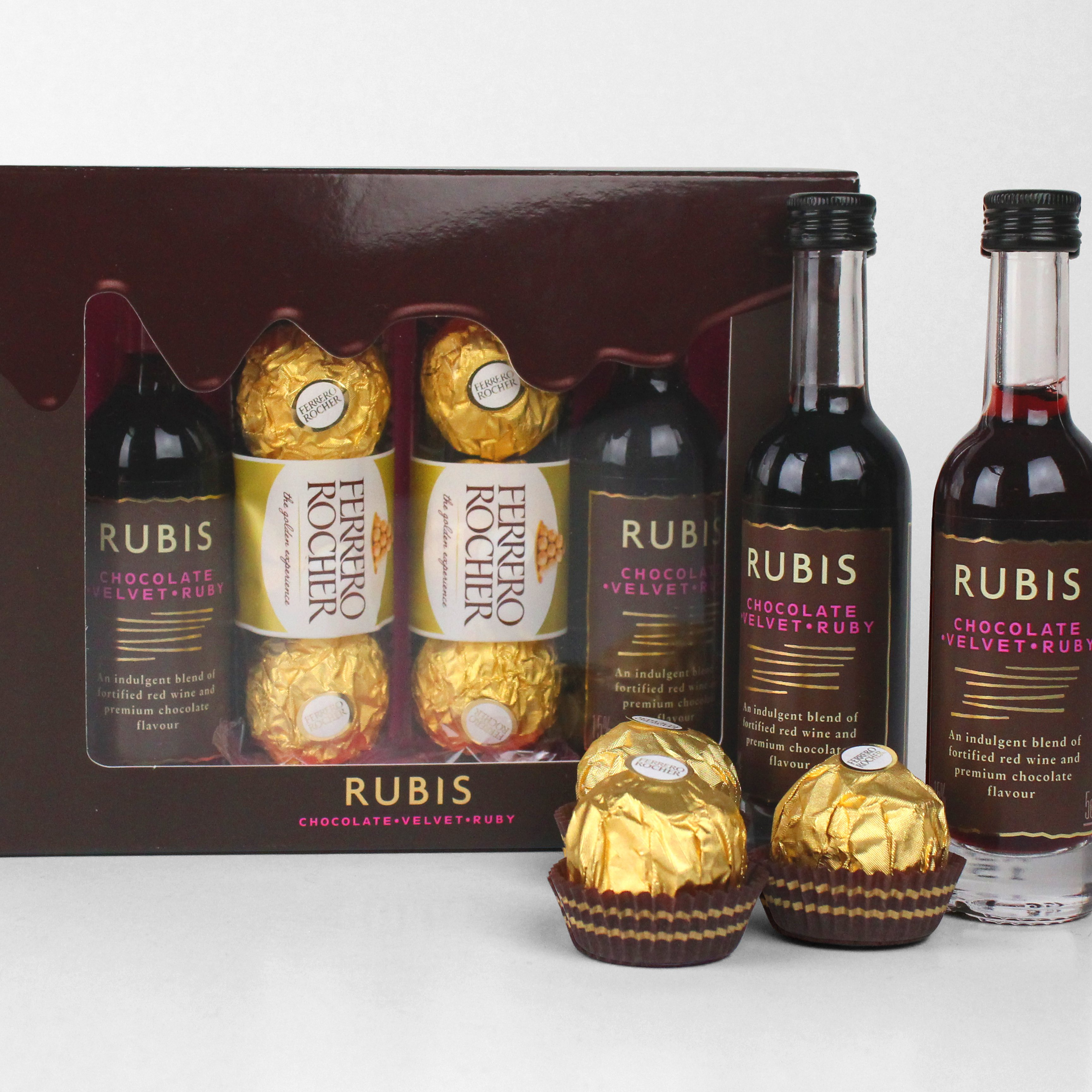 Rubis Luxury Chocolate Wine Gift Pack - Yumbles.com