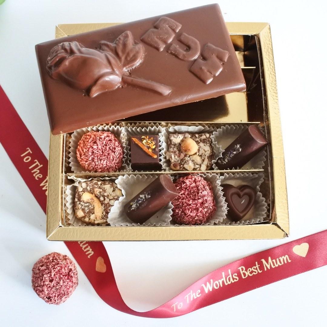 Mothers Day Vegan Organic Assorted Chocolate Box & Bar (Soya ...