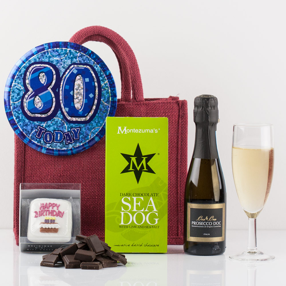 Happy 80th Birthday Gift Bag From Natures Hampers