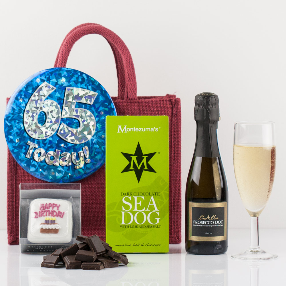 Happy 65th Birthday Gift Bag From Natures Hampers
