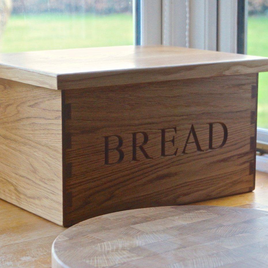 Cookware, Dining & Bar Wooden Bread Bin Food & Kitchen Storage
