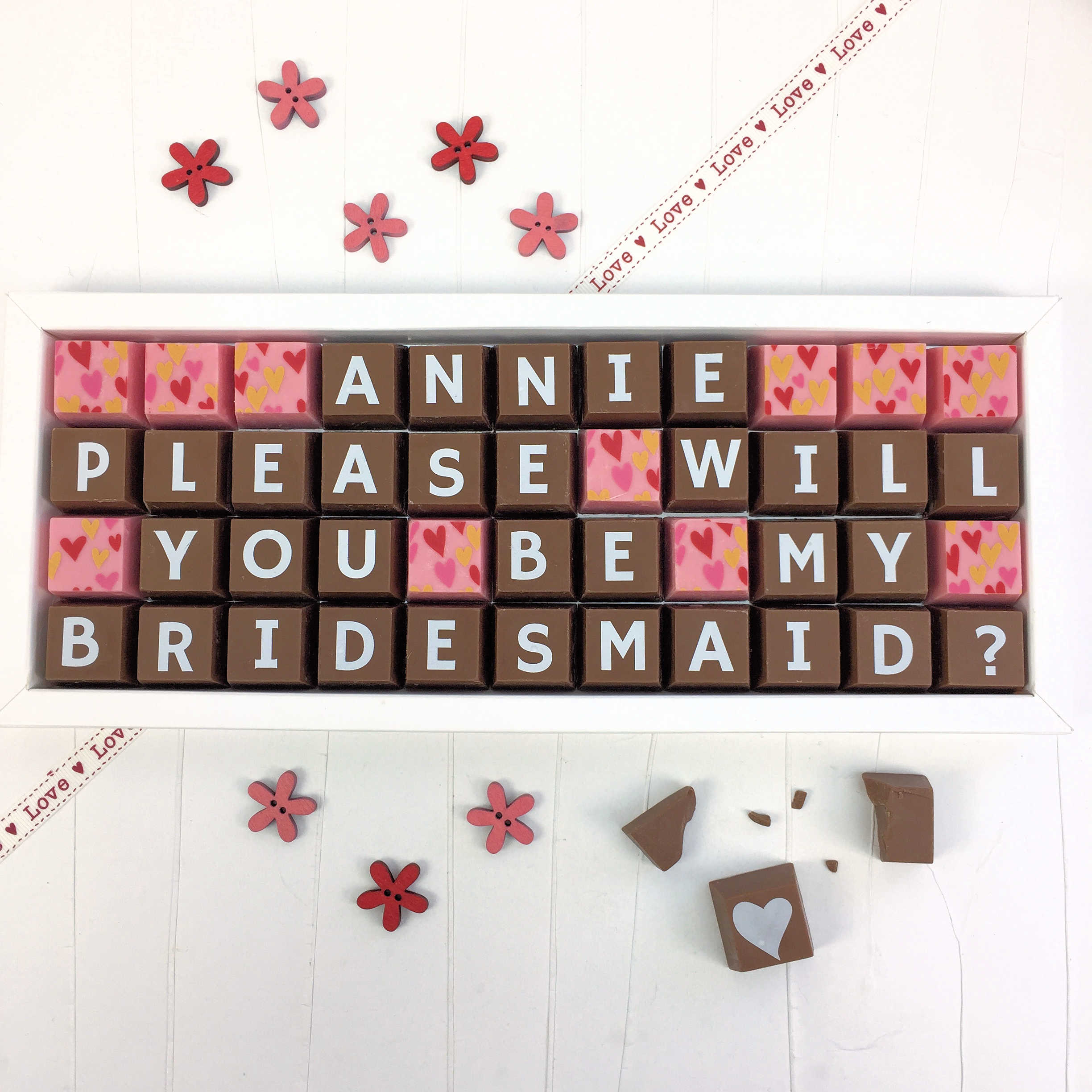 Personalised Please Will You Be My Bridesmaid Chocolates Yumbles Com
