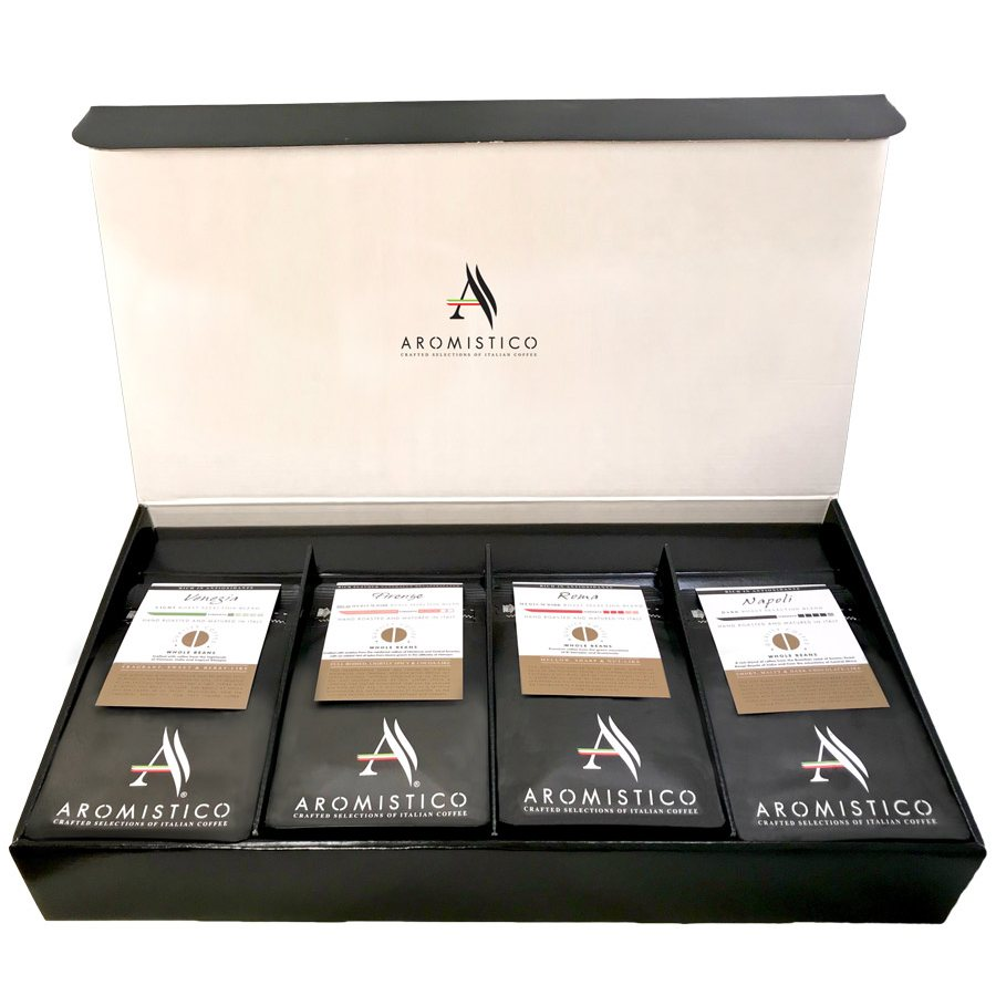 Aromistico Coffee Ground Beans Variety Luxury Gift Box