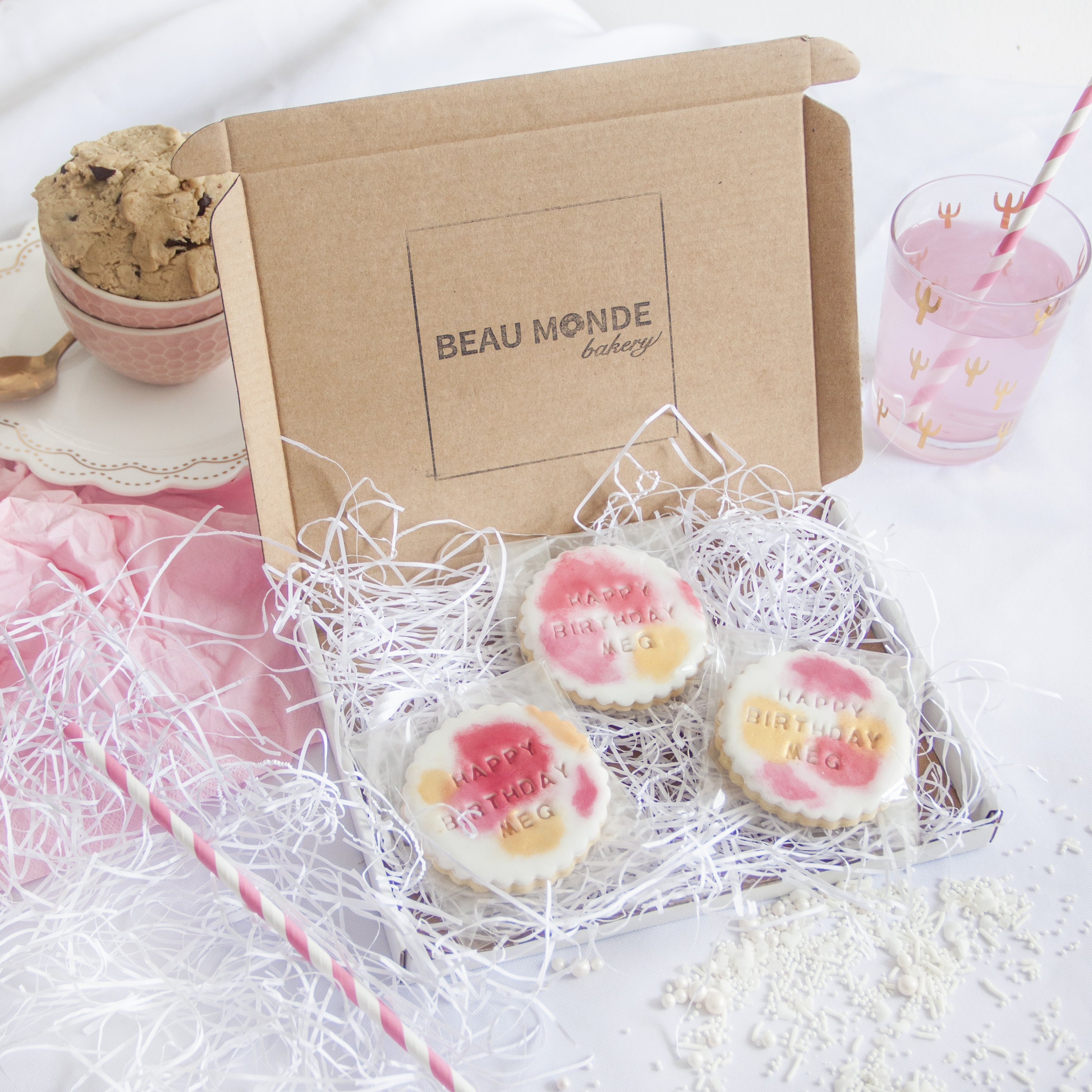 Free From Thank You Vegan Shortbread Biscuit Gift Personalised Happy Birthday
