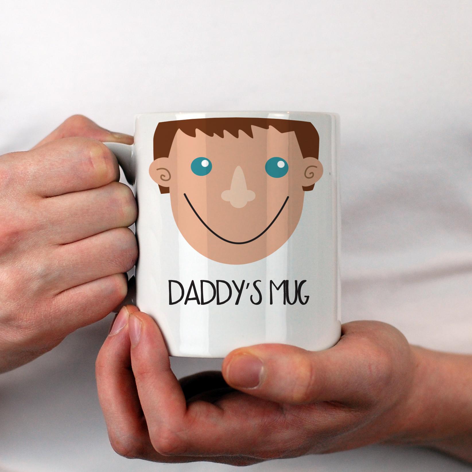 Husband Boyfriend Mug Personalised Dad Face Birthday Gift