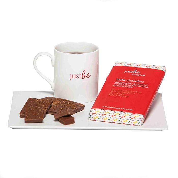 Energised Aromatherapy Milk Chocolate Bars 2 Pack