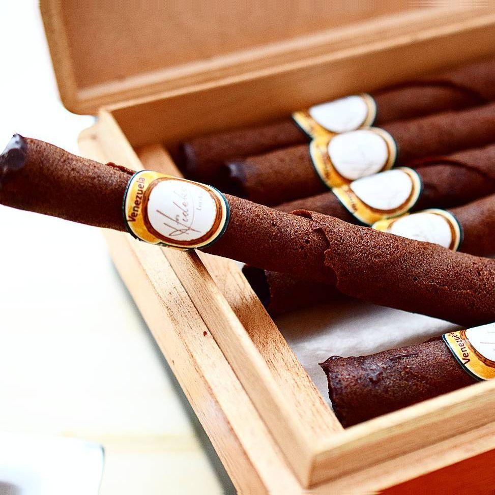 Chocolate Coated Tuile Cigars Luxury Chocolate Box (No fillings ...