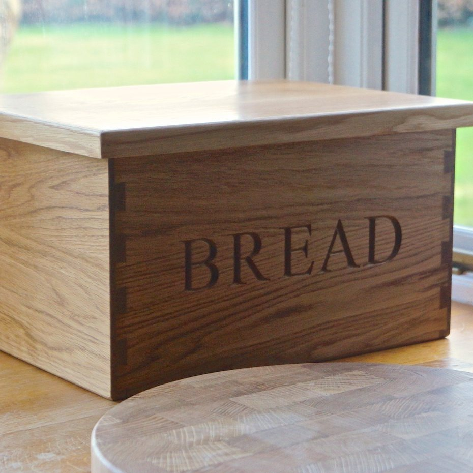 Cookware, Dining & Bar Wooden Bread Bin Food & Kitchen Storage