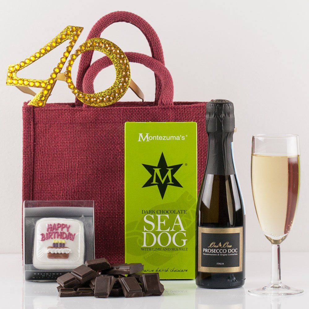 Happy 40th Birthday Gift Bag From Natures Hampers