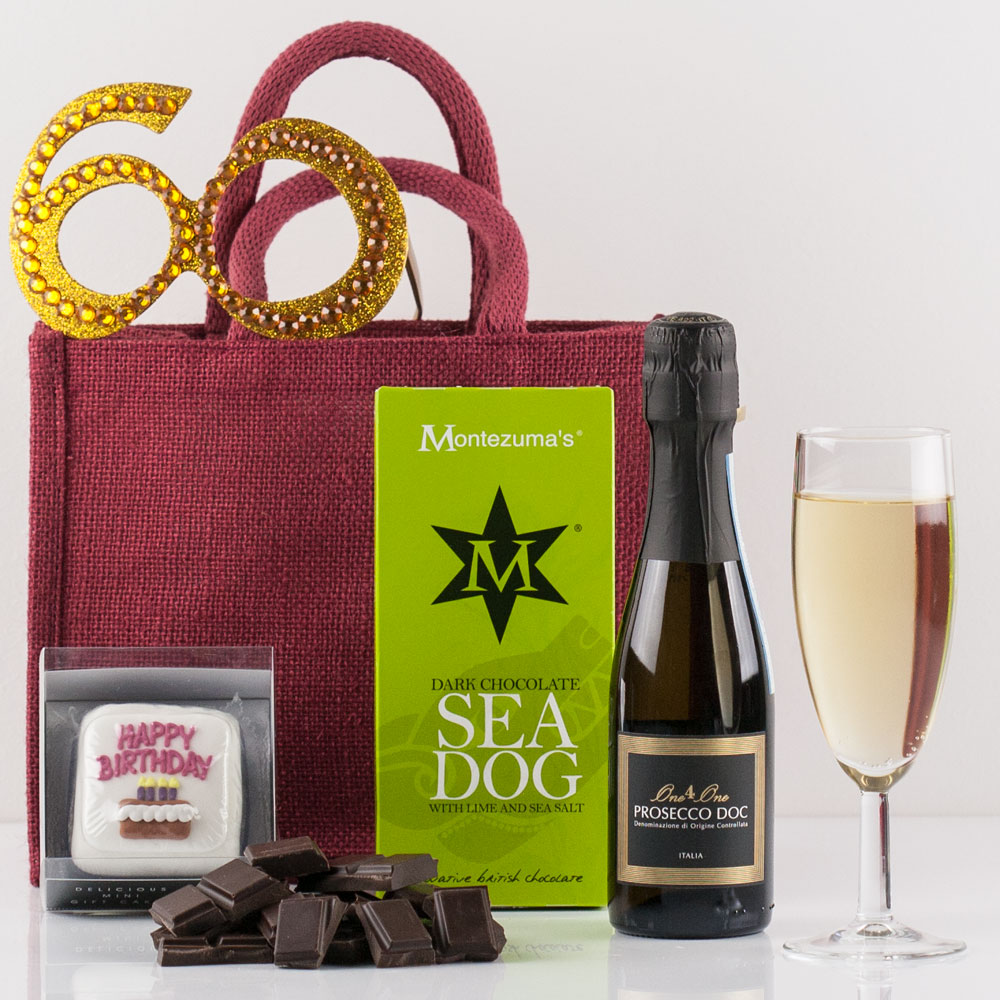 Happy 60th Birthday Gift Bag From Natures Hampers