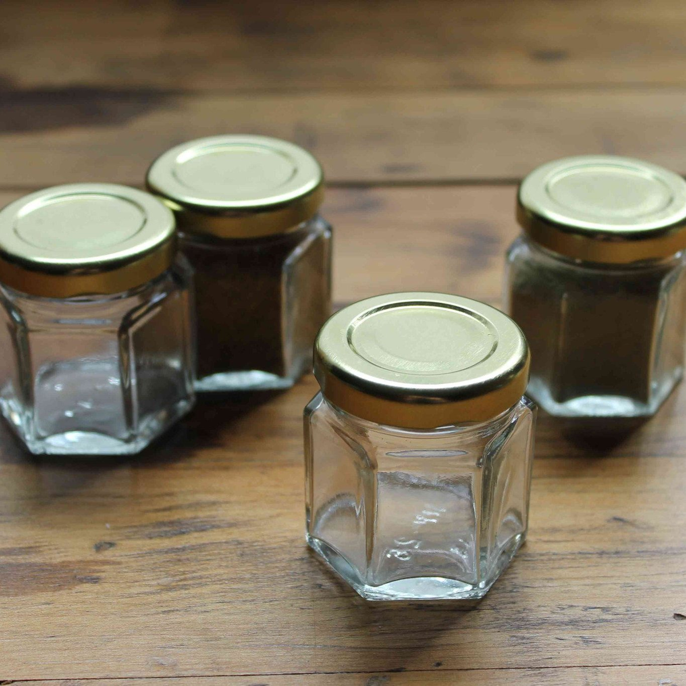 Hexagonal magnetic spice jar empty or full