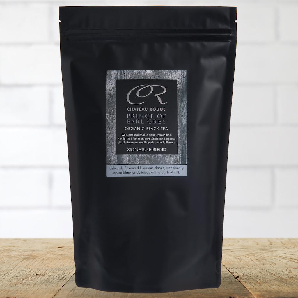 Blend gourmet herbal tea -  Chateau Rouge Gourmet Fine Foods Gift_prince Of Earl Grey_organic Black Tea Bags_pouch