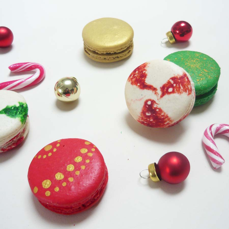 Christmas Macarons.Alcoholic Christmas Macarons Box Of 14