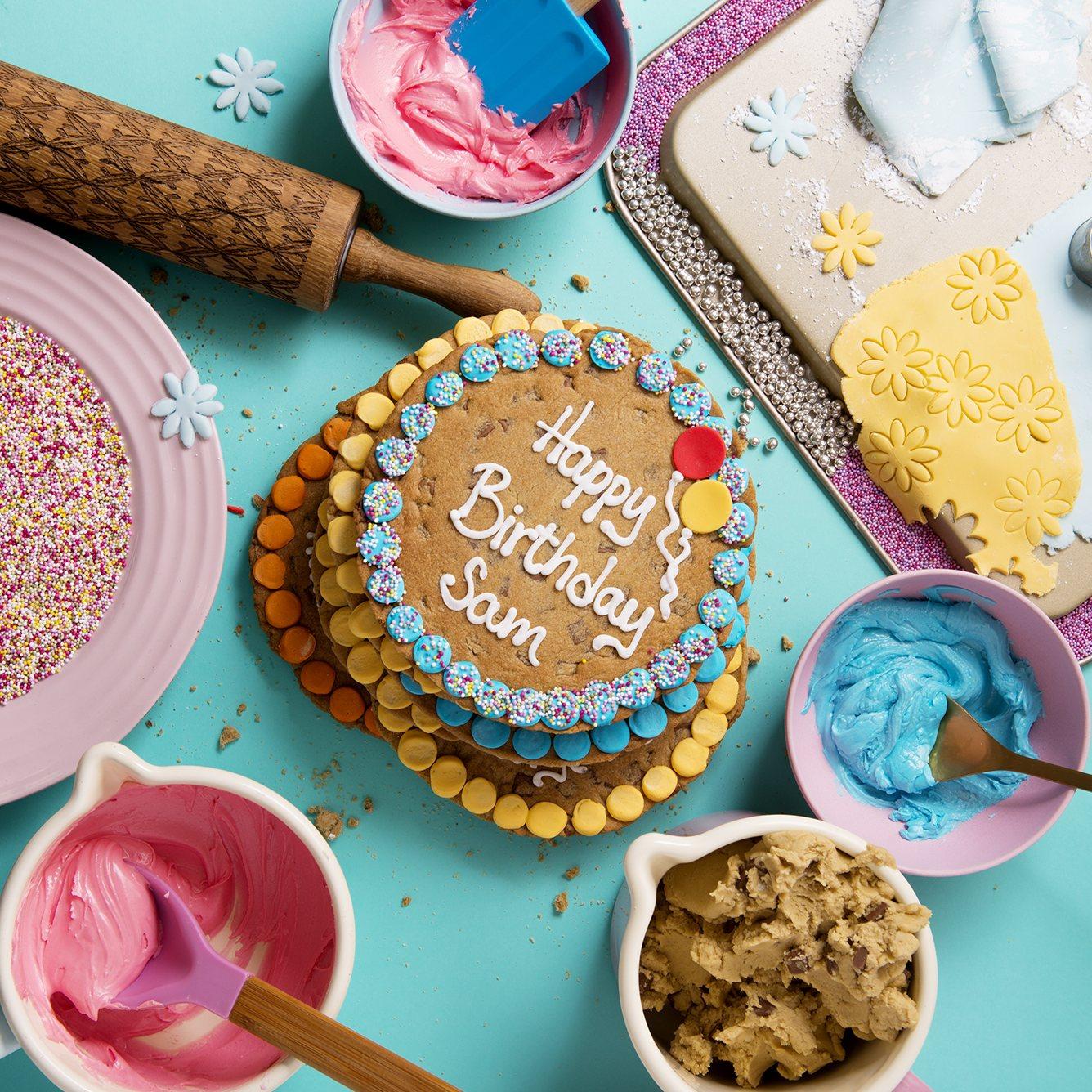 Happy Birthday Blue Background Box
