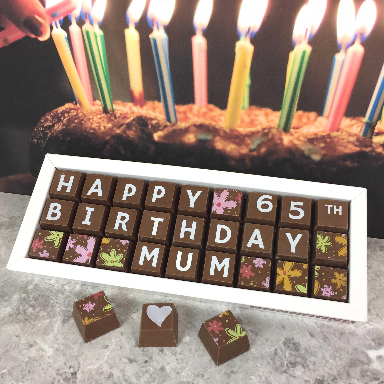 Personalised 60th Birthday Chocolate Box