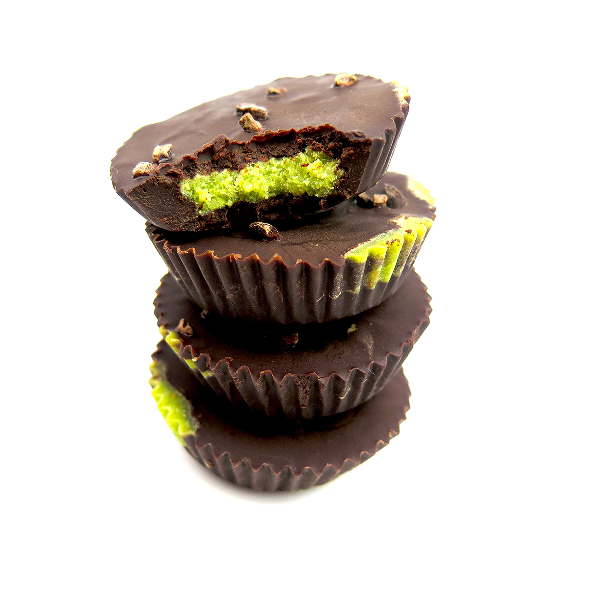 Matcha-filled Chocolate Cups | Box of 6 x 100g ...