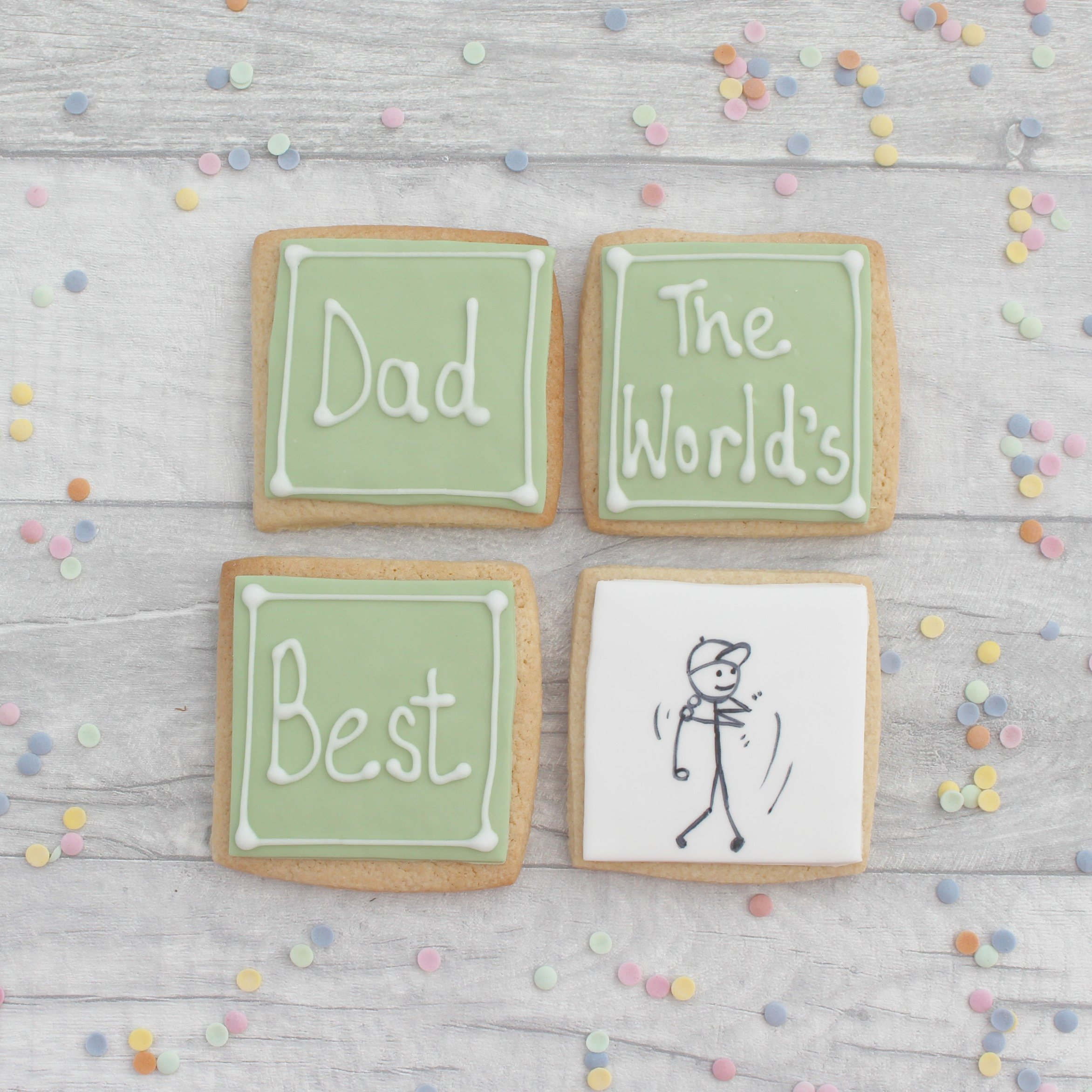 Worlds Best Golfer Fathers Day Cookie Gift