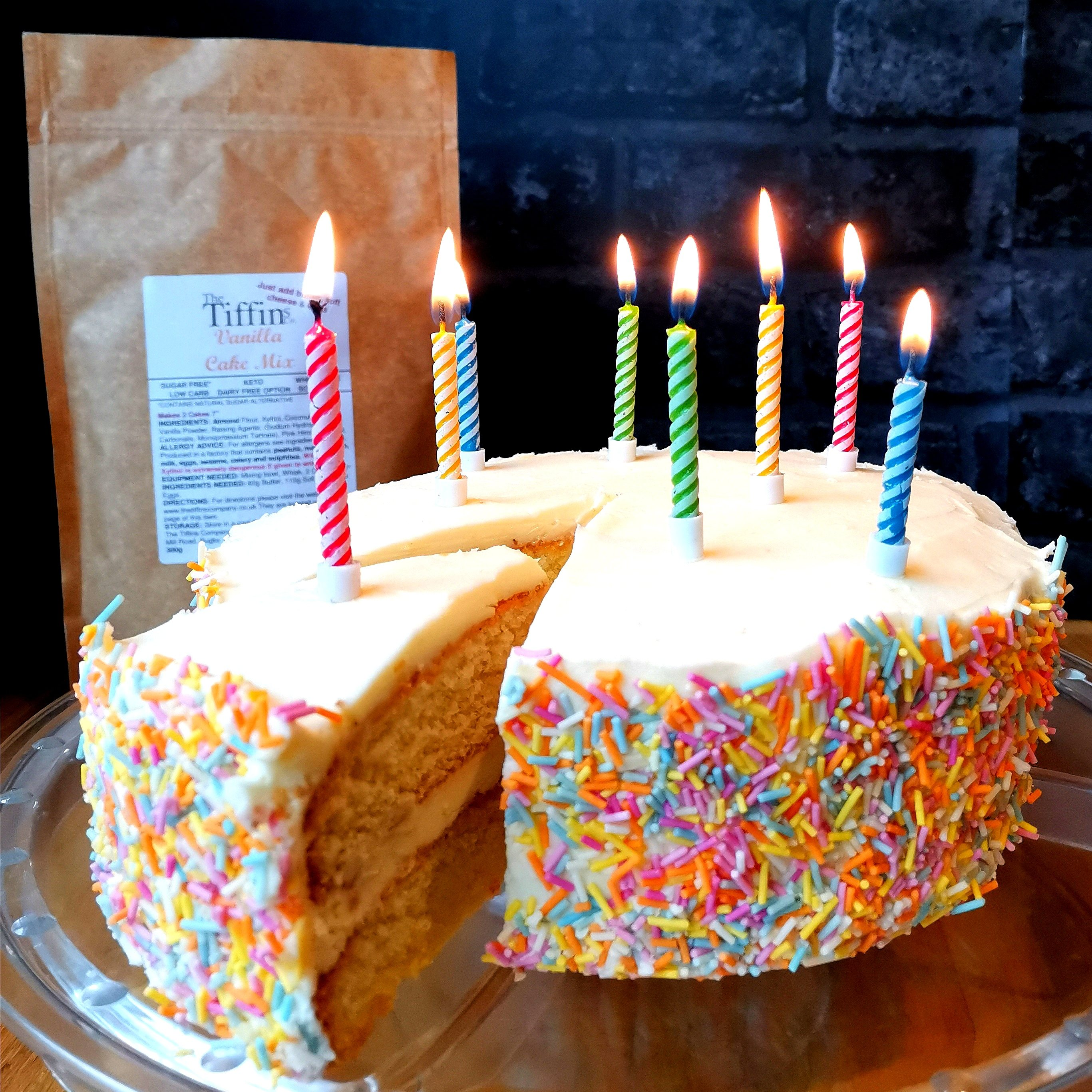 Sensational Vanilla Birthday Cake Mix Keto Low Carb Sugar Free Yumbles Funny Birthday Cards Online Alyptdamsfinfo