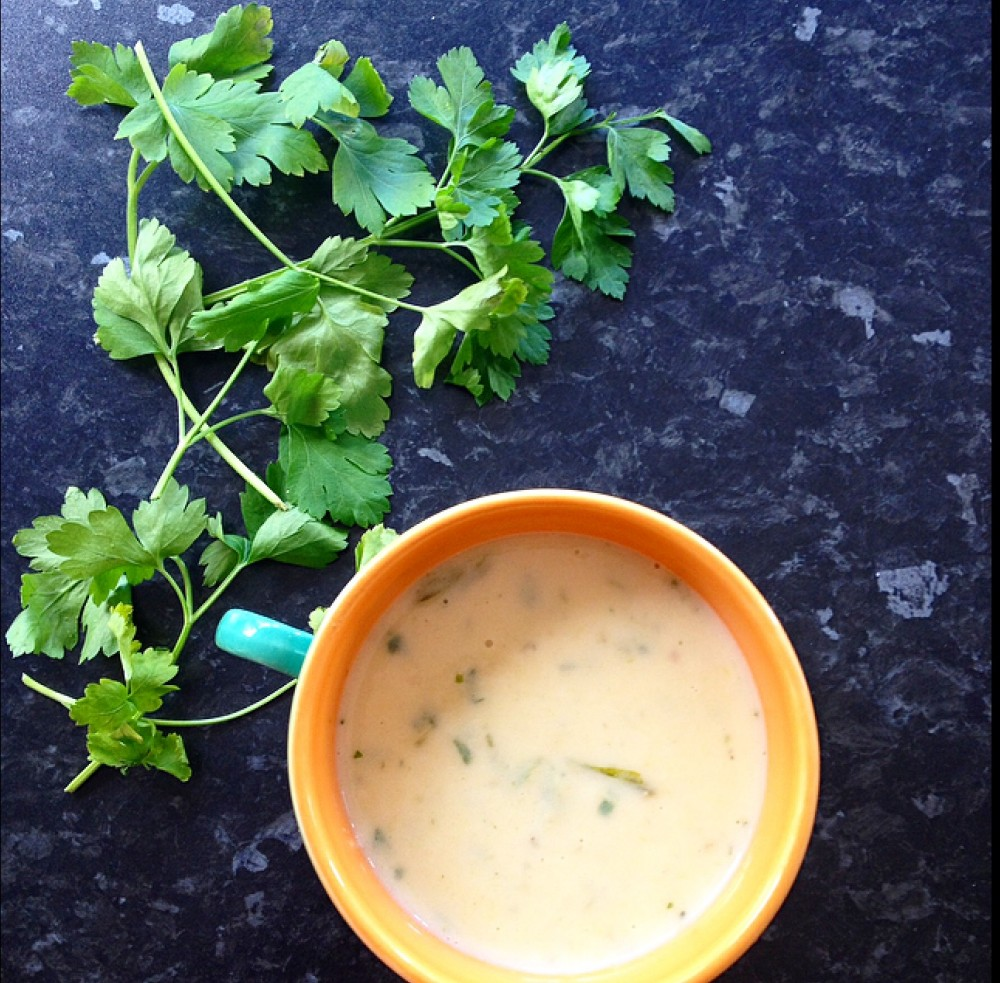 Potato, Leek, Stilton and Parsley Soup