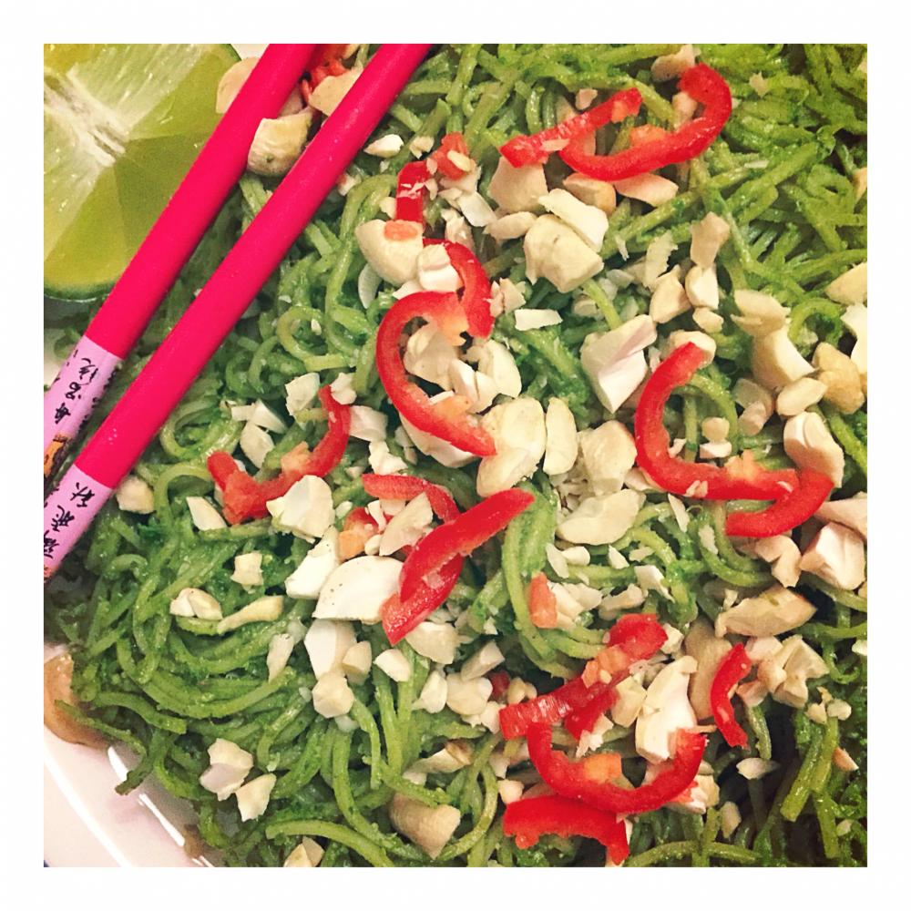 Asian Noodle & Kale Pesto