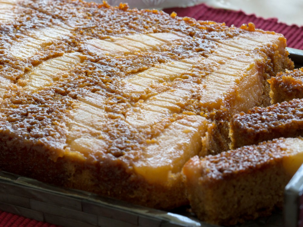 Upside-Down Pear Cake