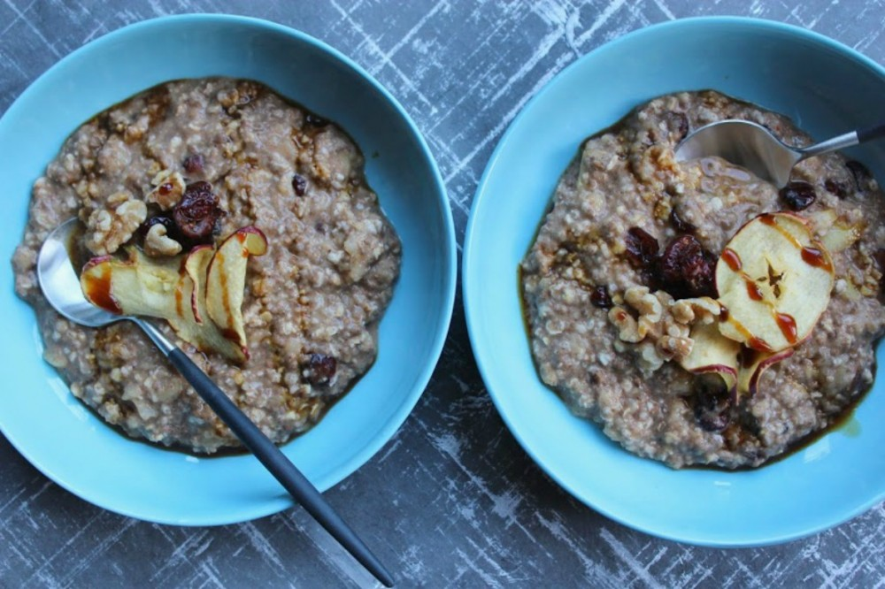 Festive Apple & Cranberry Spiced Porridge