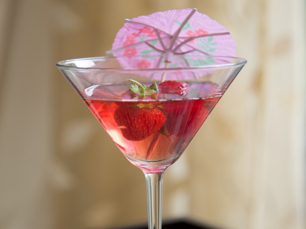 Turkish Delight Martini Cocktail