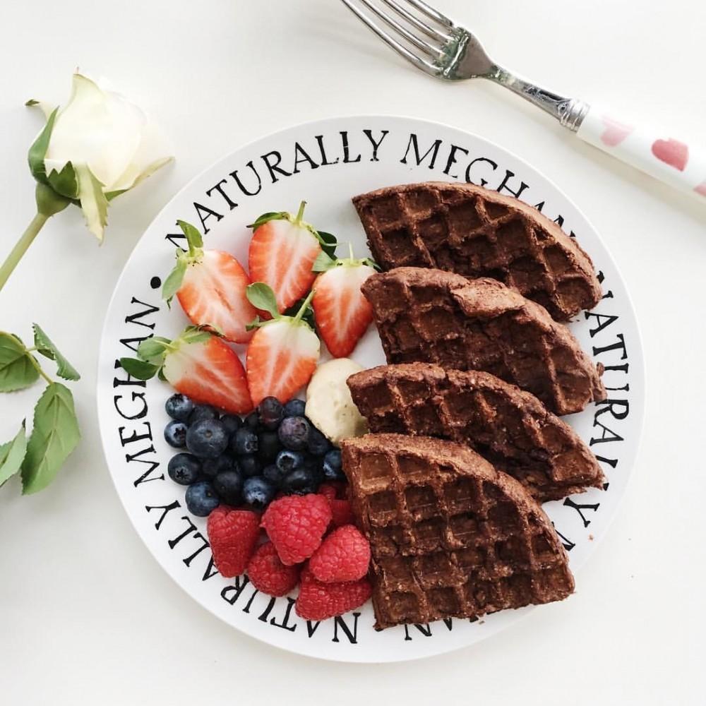 Vegan and Gluten-Free Healthy Chocolate Waffles