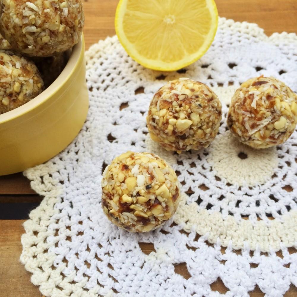 Lemon & Coconut Bliss Balls