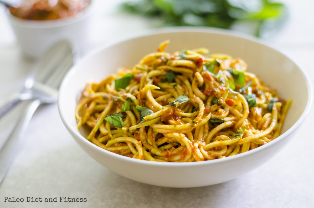 "Roasted Red Pepper Pesto & ""Pasta"""