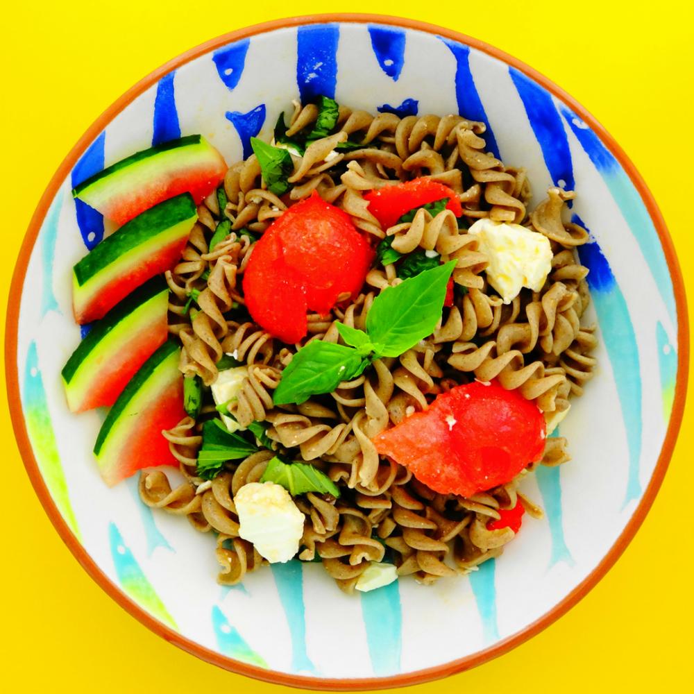 Superbly Summery Watermelon and Feta Pasta Salad