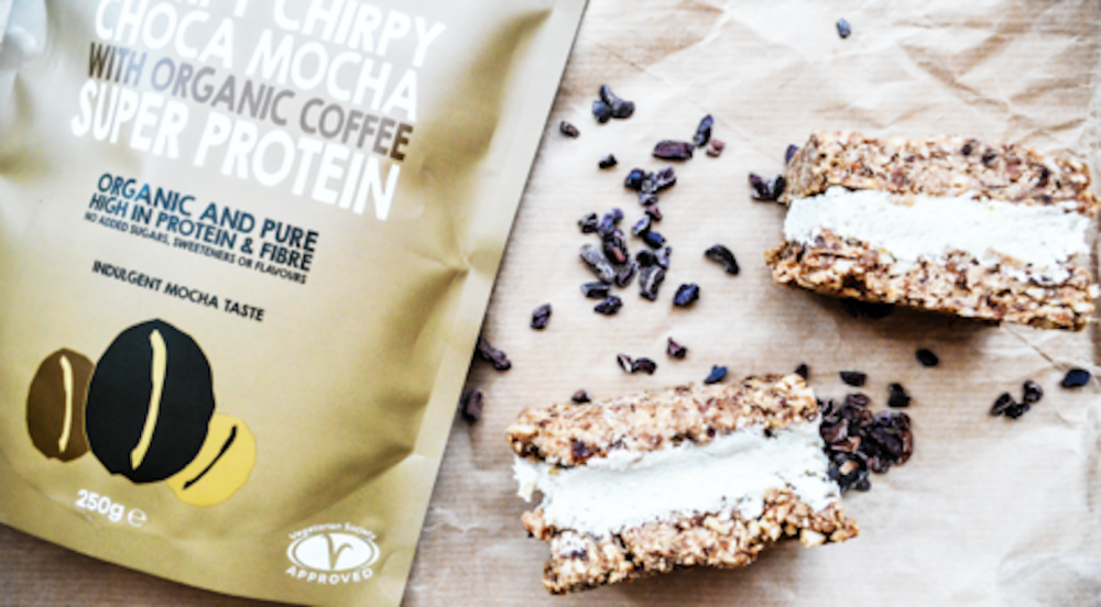 Coffee and Cacao Protein Ice Cream Sandwiches
