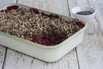 Shony, Apple and Blackberry Crumble