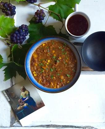 Spicy Lentil and Adzuki Bean Soup
