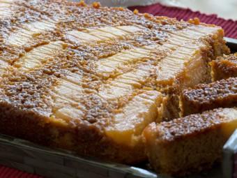 Upside-Down Pear Cake