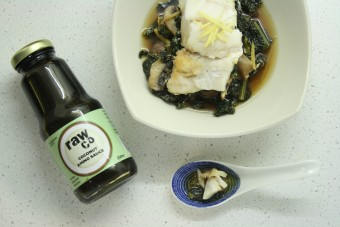 Cod with Ginger-Braised Cavolo Nero