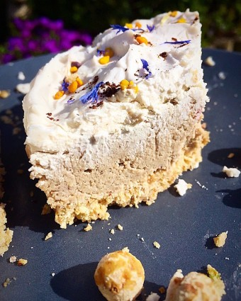 Tiger Nut, Lemon and Blueberry Cheesecake