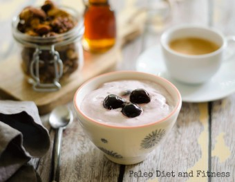 Dairy-free Easy Cherry Yogurt