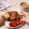 Vegan bacon and avocado toast
