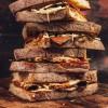 Vegan pastrami reuben toastie