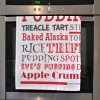 British puddings tea towel