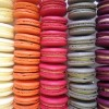 Macarons in rows