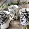 Freesia and Orange Blossom mug with selection