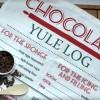 Chocolate Yule Log Recipe Tea Towel