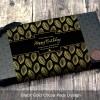 Black Gold Cocoa Pods Design