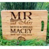 MR & MRS Wedding Personalised Chopping Board