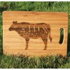 British Beef Steak Cuts Engraved Chopping Board